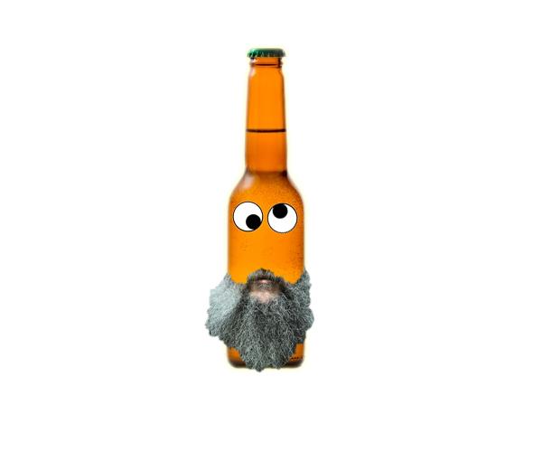 bottle beard eyes large