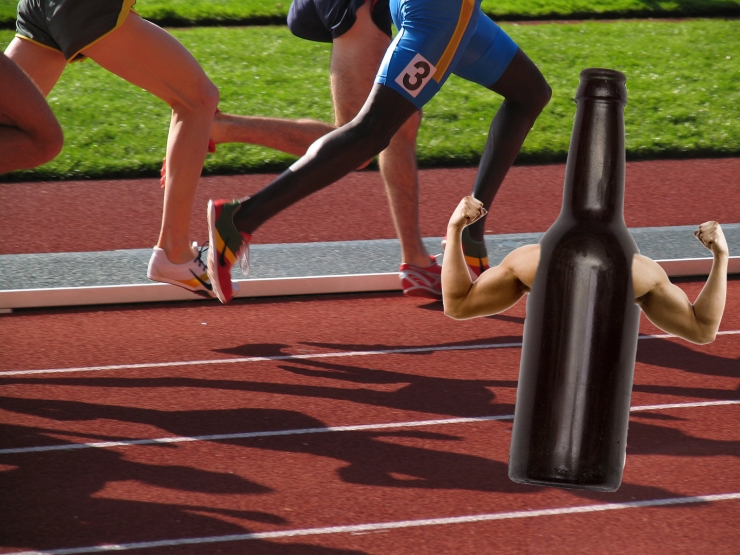 Track_Runners with beer