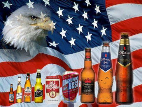 american-flag beer lineup