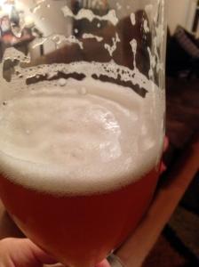 Rye malt gives this brew a nice, fluffy head.