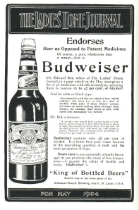 1904 ad for Bud in a large bottle. Via Jay Brooks on Flickr.