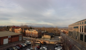 View of mountains from Downtown Inn and Suites