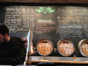 Downstairs tap room at Wicked Weed.