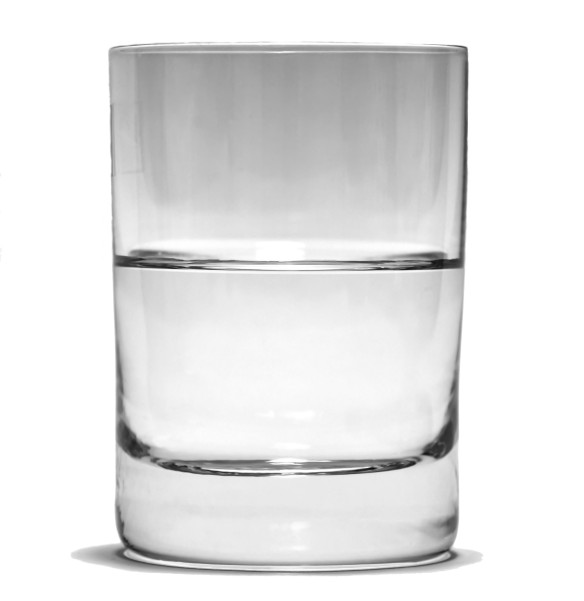 Half empty or half full?