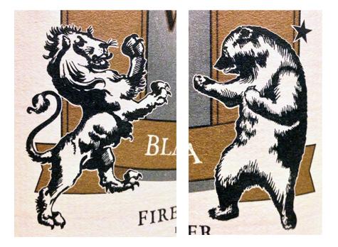 lion bear fighting boxing match battle
