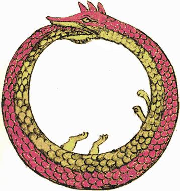 snake eating tail