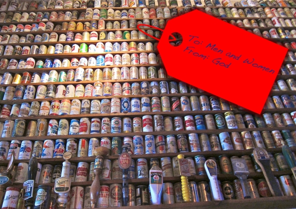 beer_cans_bottles_wall_from_god men and women