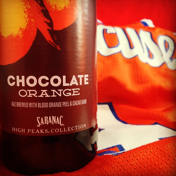 Saranac-chocolate orange-syracuse-march madness-beer-beertography