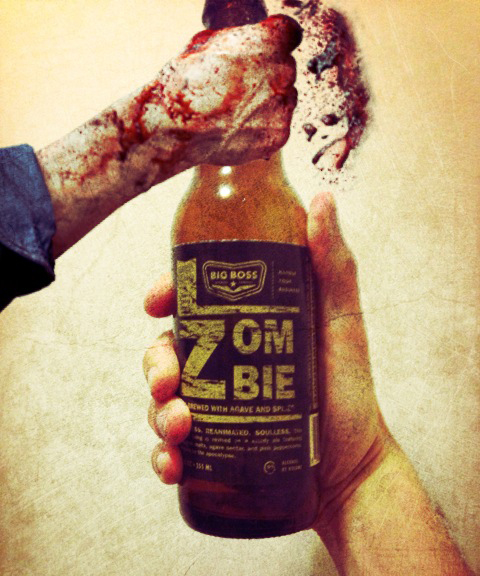 Big Boss-zombie-beer-beertogrpahy-walking dead