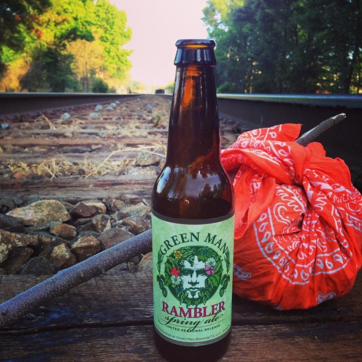 green man brewing-green man-rambler-train-train tracks-ramble on-beer-beertography