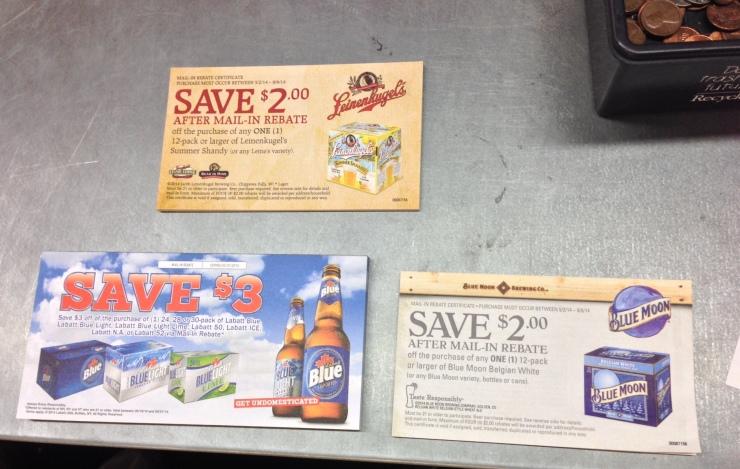 mail-in rebate-beer