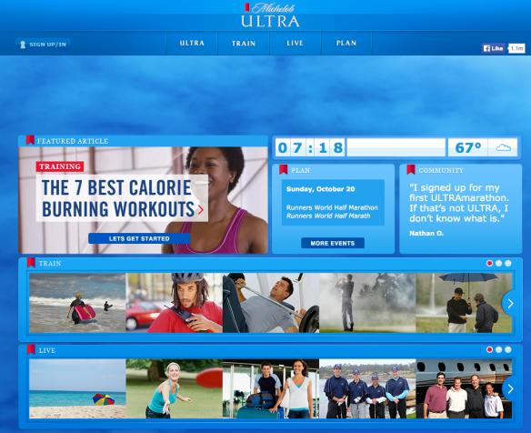 michelob ultra-website