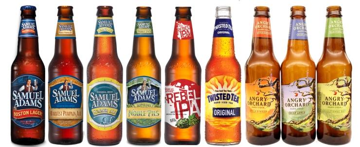 sam lineup-boston beer