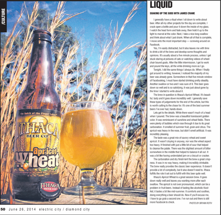 electric city-newspaper-ithaca-beer-apricot wheat-beertography-photo-picture