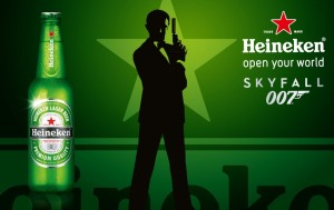 Heineken's biggest success in recent years? Sales boost from product placement with James Bond.