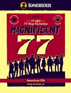 magnificent 77-beer-label