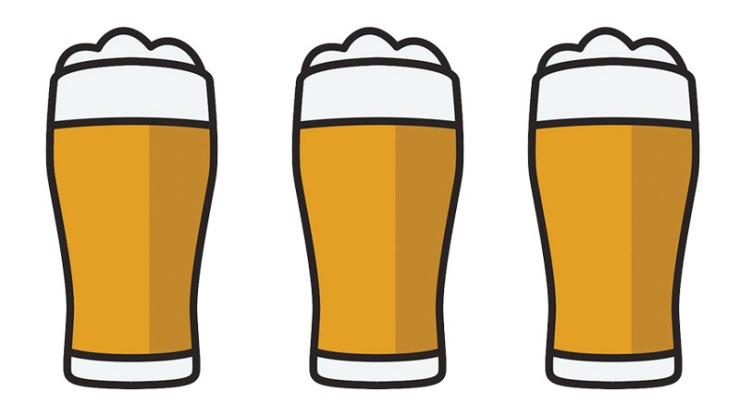 same glass of beer
