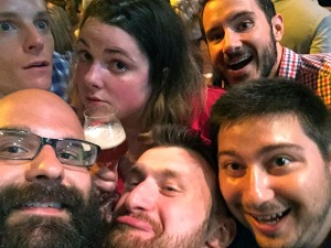 Friends I've made because of this blog crowding into a picture at SAVOR.