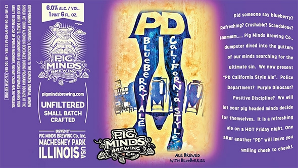 An often-cited example of sexist beer labeling from aptly named Pig Minds Brewing.