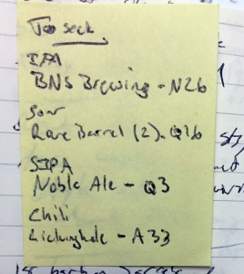 My to-do list at GABF.
